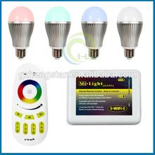 RGB smart led 6w like hue bulb,e27 wifi light bulb wireless remote control multi color,RGB smart led 6w like hue bulb