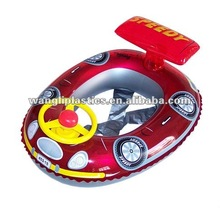 Popular floating rider toys inflatable kids car shape swimming seat