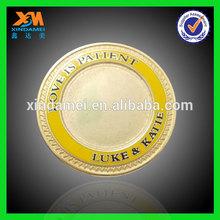 promotional custom made logo shenzhen zinc alloy plastic coin tray (xdm-c311)