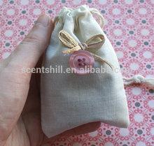 Customized size organic drawstring cotton/fabric scented rose petal sachet
