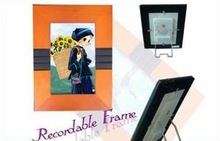 High quality plastic voice recording digital photo frame