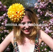 Yellow flower 'Pompom' headpiece floral festival headband H175