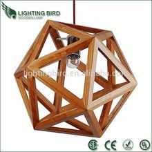2014 hot sale saa ce ul wood pendant light cable pendant light