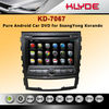 hot sell car radio 3g dvd gps for ssangyong korando with DVR
