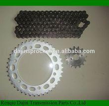 Dajin 1045 motorcycle sprockets kits/motorcycle parts chain sprocket/suzuki ax100 parts