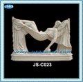 ديكور الحديقة الكذب امرأة عارية تمثال من الرخام الأبيض