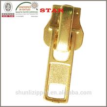 zipper slider gold
