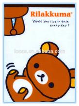 [Korea & Japanese] brown Rilakkuma full printed kids/children school notepad for drawing