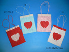 heart shape photo Vanlentine's Day paper gift bag