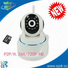 P702-H.264 720P HD P2P Wireless PTZ IP Camera Hidden Camera