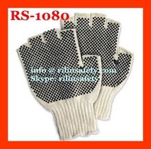 PVC Palm Coated Fingerless Work Gloves