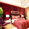 Elegant and graceful bedroom wall paper design