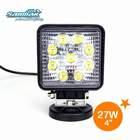 "New 4"" 27W off road 4x4 utv jeep led lamp led working light utv 4x4 driving light sm6271"