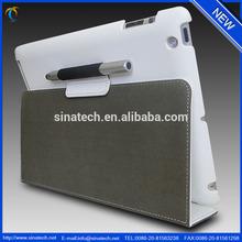 2014 new premium luxury portable leather case for ipad 2