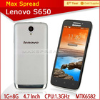 Chinese famous brand Lenovo S650 MTK6582 Quad Core Android 4.2 telephone mobi cell phone