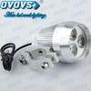 6500K Led Motorcycle Light Silver Aluminum Alloy round headlight for bike, moto, car, atv, suv