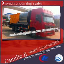 sinotruck howo 6*4 asphalt truck , synchronous chip sealer ,bitumen price