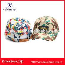 Wholesale 5 Panel Cap Baby Camo 5 Panel Camp Caps/Hat Leather Back Enclosure Fashion Cap And Hat