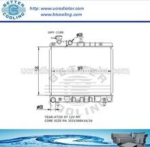 Auto Radiator For HYUNDAI ATOS 97 12V MT OEM:2531002000/2531002150
