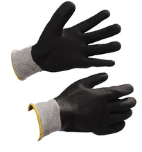Nylon and white glass fiber liner cut resistant pvc dots glove