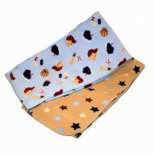 2014 Xinbo CuddleTime Printed Fleece Blanket All Star Bear 2 Pk