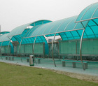 Roofing panel polycarbonate sheet for bus station