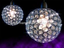 Small Clear Acrylic Bead Crystal Chandelier/