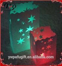 wedding decoration flame retardant star shape candle holder