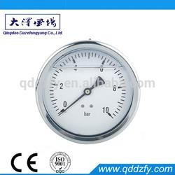Oil liquid filled pressure gauge bourdon tube