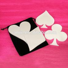 9021406104 White Acrylic Card suite coaster -Set of 4 -plexiglass