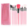 12pcs fashion pink nylon makeup brush set oem manufacturers china