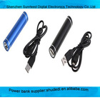Universal Newest mini lipstick size 5600mah mobile phone power charger universal power bank for smart phones