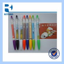 mini MOQ promotional thick ballpoint pen plastic bulk ad custom logo banner pen
