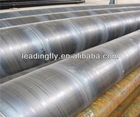 3 layers of polythene coating spiral welded steel pipes