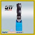 Jinoo de alta qualidade Altin revestimento HRC45 4 flautas carboneto de tungstênio fresa de titânio
