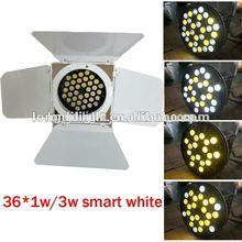 36*3w White housing led par can LED barn door par can led