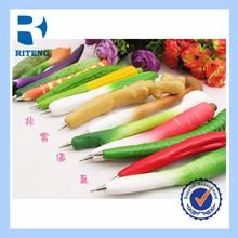 different vegetable shape novelty ball pen fridge magnet pen