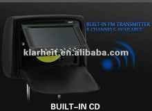 Klarheit 7 inch car headrest dvd player with wireless game cheap car dvd player vision car dvd player