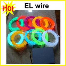 8 Color Choice 2M Car decorative thread sticker indoor body decals tags auto car accessory Flexible Neon Light El wire