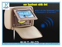 2014 new design 9 inch headrest mount car dvd with Multi-Language menu 64bit game