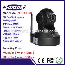 robot network ip camera wireless pan tilt wifi indoor