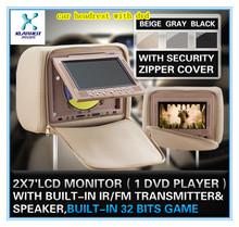 2014 new design FZ-1088 digital car headrest dvd mount for car compatible with DVD/CD/CDG/MP4/MP3/WMA/JPEG