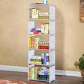 6- camada dobrável cosméticos wall prateleira de livros