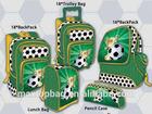 2014 world cup football design school bags items schoolbag trolley bag/lunch bag/pencil bag