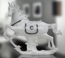 Lifelike decorative resin horse