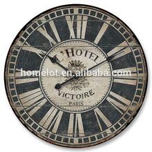 Cheap Antique Wooden Wall Clocks MDF Wall Clocks Minhou Wooden Clock Wholesale