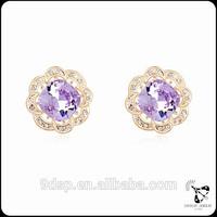 Euramerican fashion AAA Level Crystal Rose Gold Saudi crystal earring