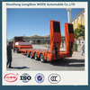 china factor yhydraulic low bed semi trailer for sale