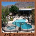 ZNZ black aluminum fence