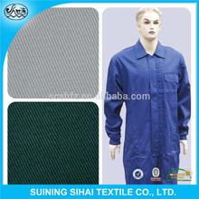 high quality t/c 65/35 plaid workwear fabric textile